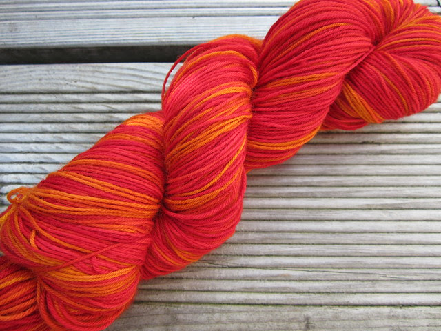Autumn Crackles hand dyed