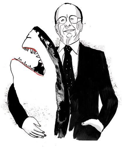 Works for newspaper: Shark Murdoch by la casa a pois