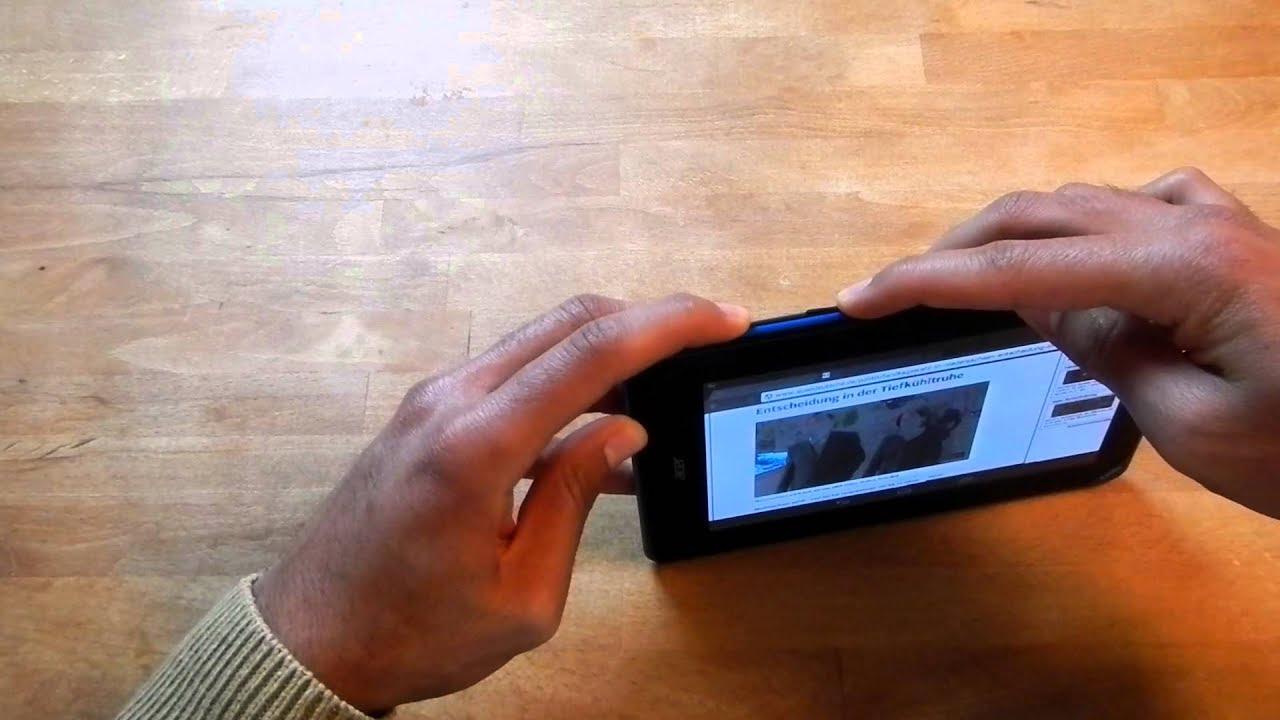 Acer Iconia B1-A71 SCREENSHOT machen - Wie macht man mit ...