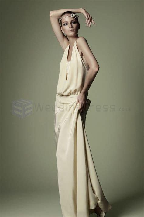 1920s Style Silk Cream Low slung Waist Bodice Plunging