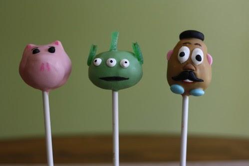 Toy Story Alien Cake Pops