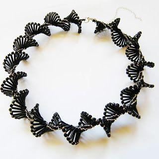 #beading #beadwork #beadweaving   #blacknecklace #dark #darknecklace #gothic #gothicnecklace #DNA #DNAnecklace