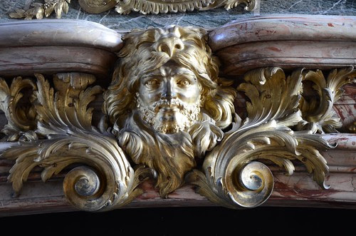 Mantle ornamentation, Hercules Drawing room, Versailles