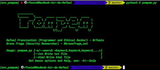 Exploit and Vulnerability Finder: Pompem