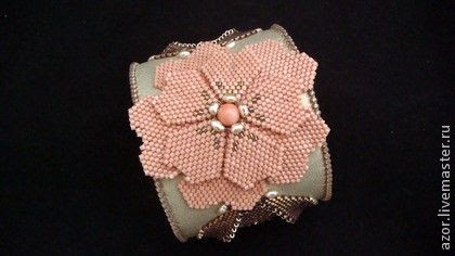 браслет`Аленушка`. Оригинальный браслет, выполненный в технике вышивка по кожеУкрашение-УНИКАЛЬНО, абсолютно авторский вариант, создано в ЕДИНСТВЕННОМ ЭКЗЕМПЛЯРЕ и сочетает в себе уникальную энергетику бисера и природных камней.