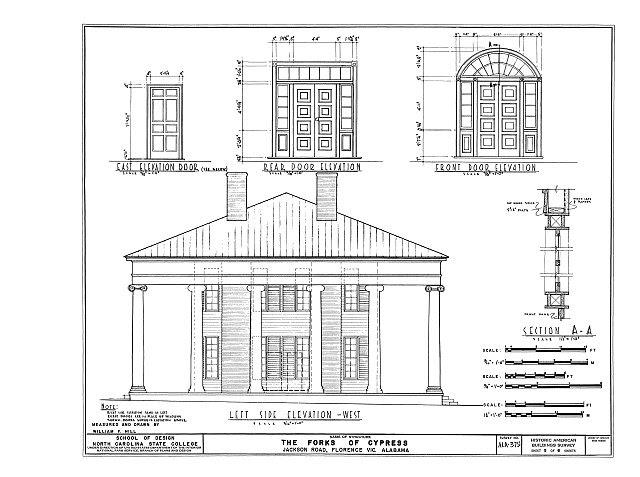 HABS ALA,39-FLO.V,3- (sheet 5 of 6) - Forks of Cypress, Savannah Road (Jackson Road), Florence, Lauderdale County, AL