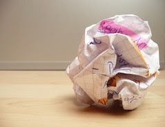 overcoming writer's block - crumpled paper on ...
