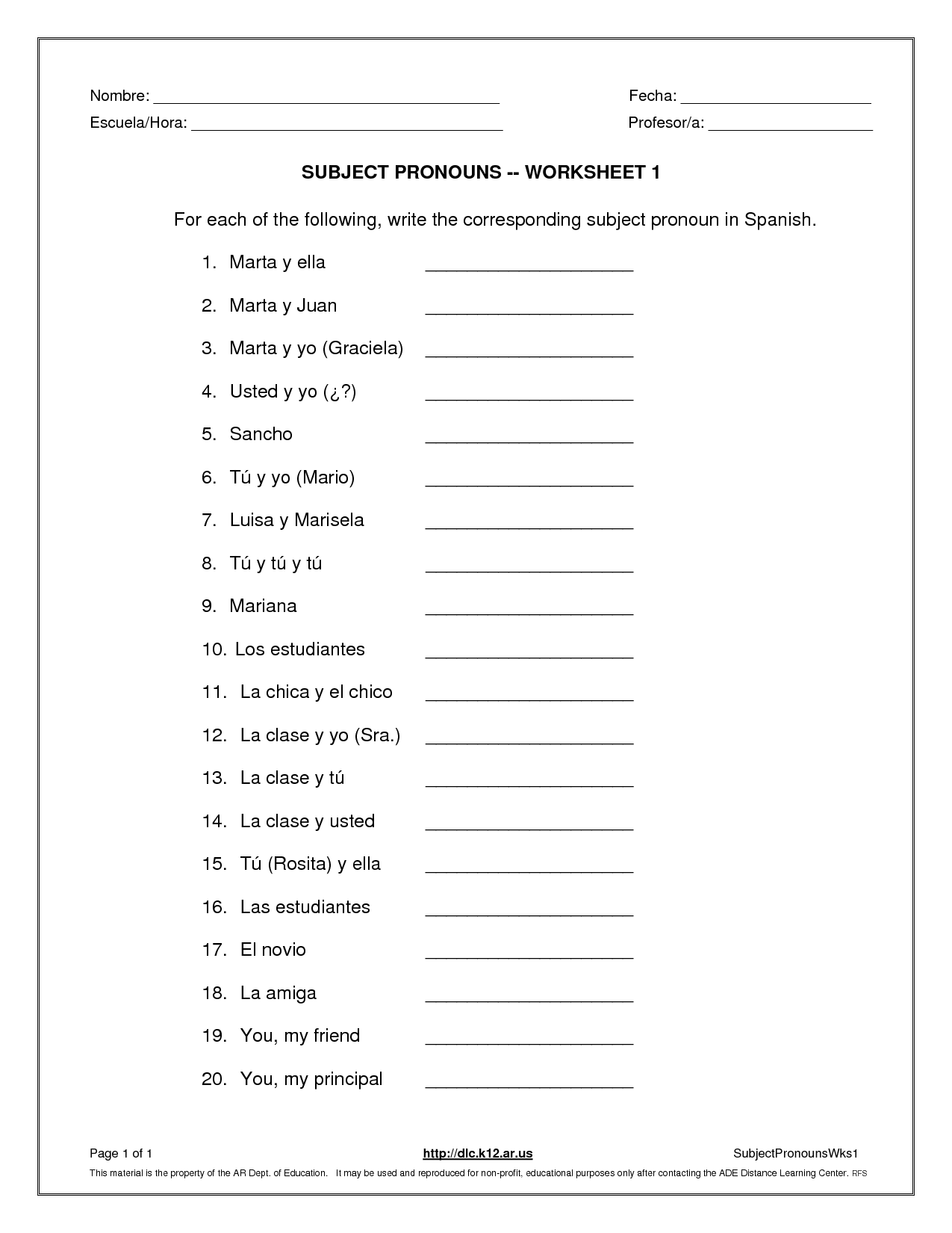 17 Best Images of College Spanish Worksheets  Basic Spanish Conversation Worksheets