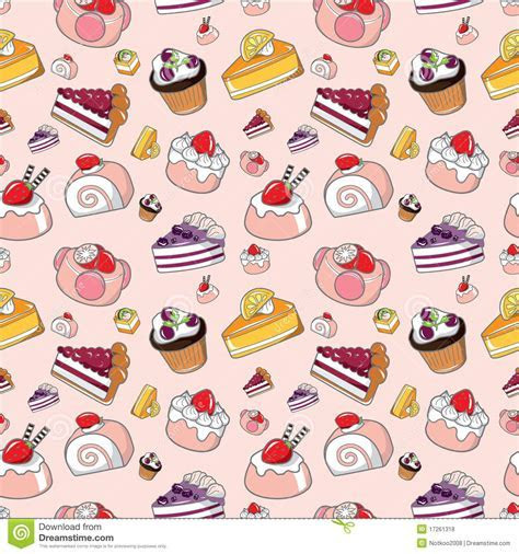 Seamless cake pattern stock vector. Image of chocolate