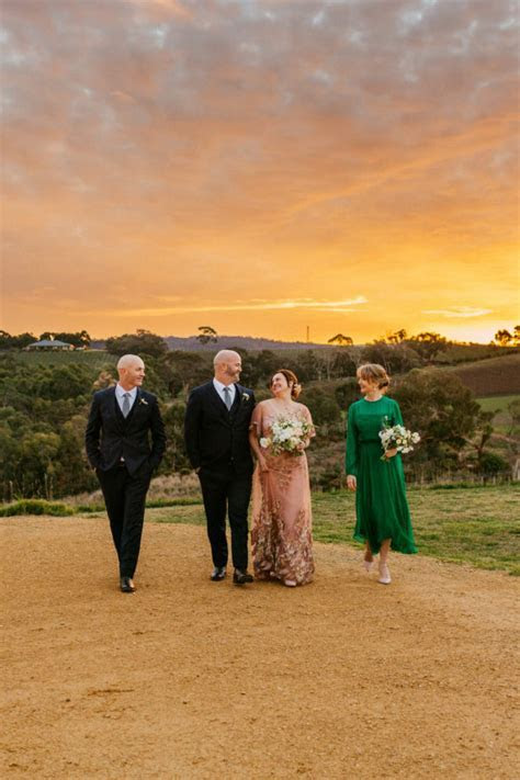 Meagan and Chad plan rustic vineyard wedding in three