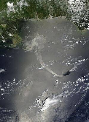 English: Deepwater Horizon oil spill imagined ...