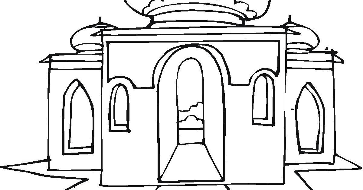 75 Gambar Mewarnai Masjid Sederhana Terbaik Hoganig