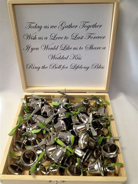 Wedding Favor Kiss kissing bells toast Liberty Bells Groom