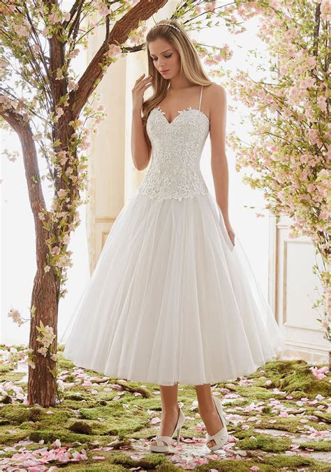 Tulle Tea Length Wedding Dress Skirt   Style 6843   Morilee