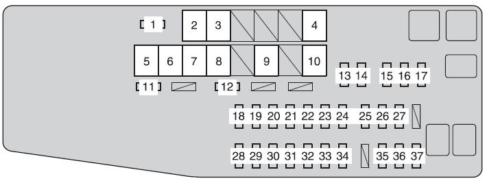 Toyota Camry From 2012 Fuse Box Diagram Auto Genius