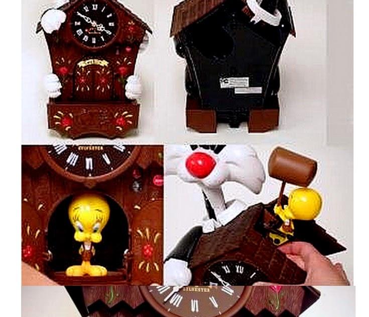 The Tweet Toy Shop Looney Tunes Sylvester Tweety Bird Animated Remote Control Talking Cuckoo Clock