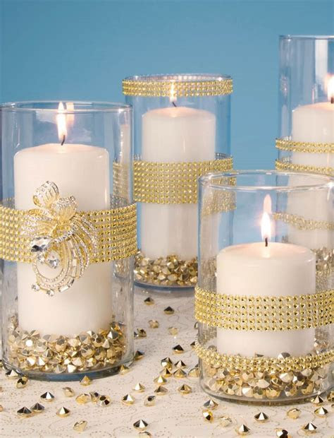 Gold Bling Wrapped Vases   Find gold decorations at