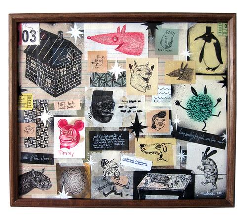 "11x13"" framed mixed media"
