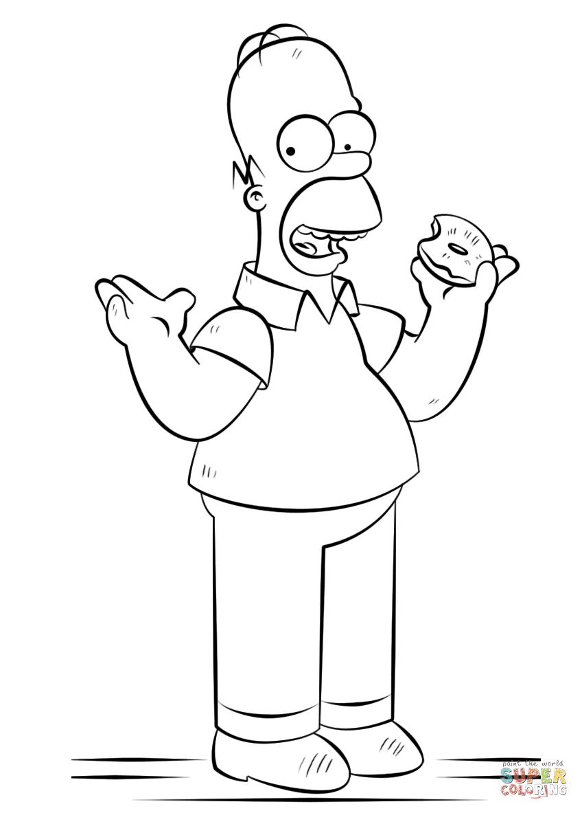 Disegno Di Homer Simpson Da Colorare Disegni Da Colorare E