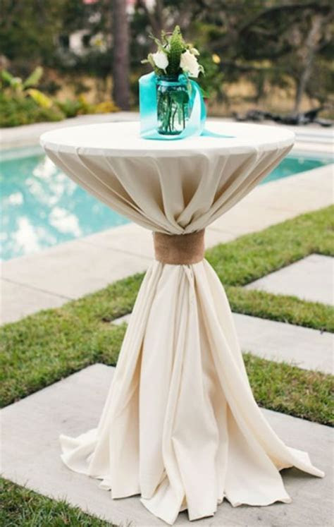 Perfect cocktail table linens. Just put festive decor on