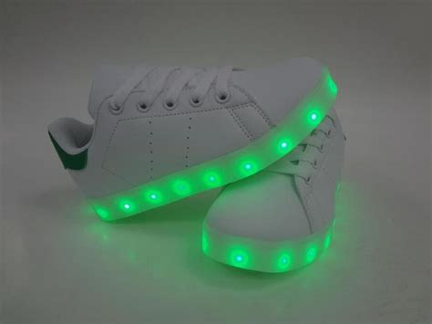 changing colors pu fabric light  shoes kids boys led sneakers girls shoe lace  casual