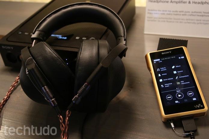 Walkman de ouro da Sony (Foto: Fabricio Vitorino/TechTudo)