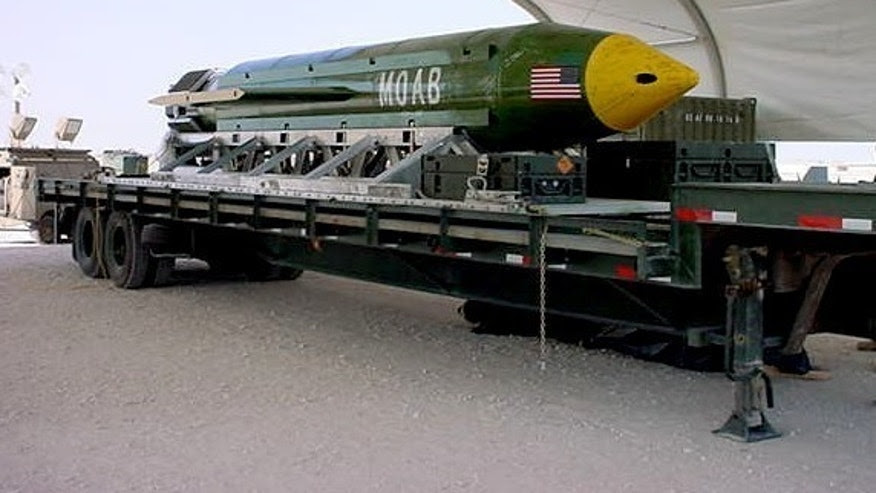 Image result for US drops largest non-nuclear bomb on Afghanistan