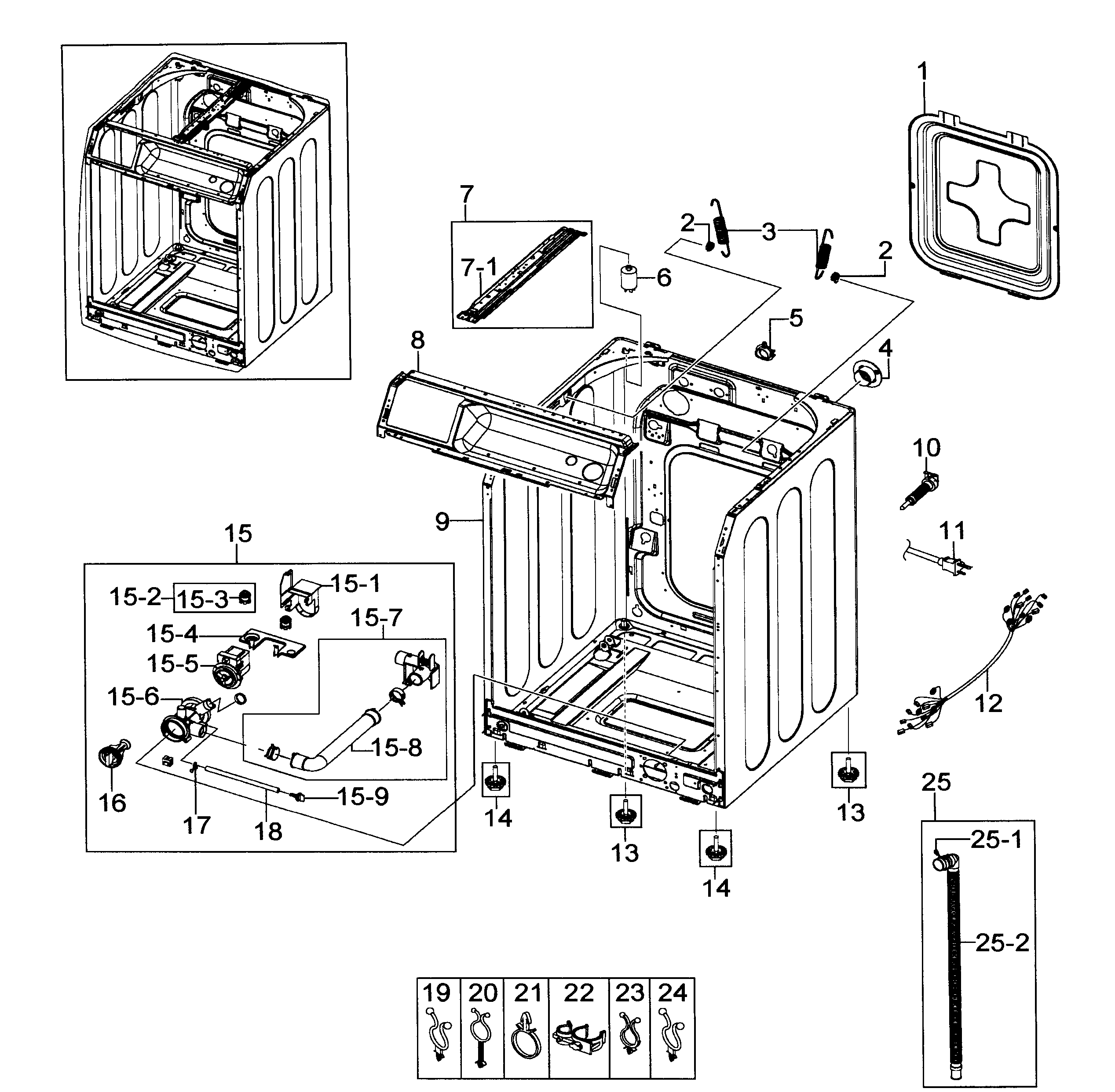 34 Samsung Front Load Washer Parts Diagram
