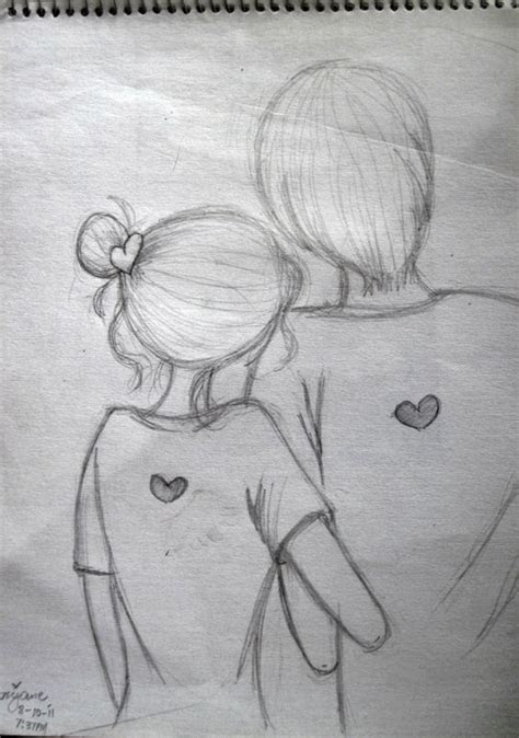 easy pencil sketch  couples google search doodles