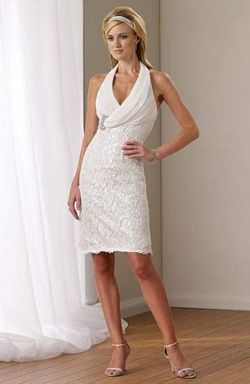 Casual Short Wedding Dress   Dresscab