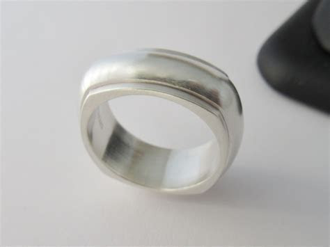 Buy a Hand Crafted Silver Ring Square Ring Wedding Band