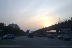 Sunrise on the MRT track