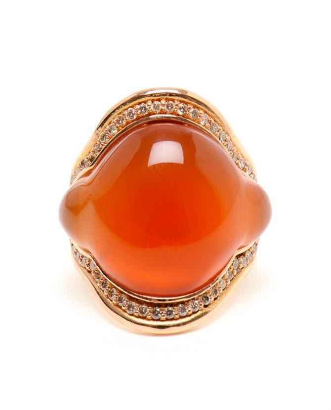 FERNANDO JORGE | Orange Chalcedony and 18k Rose Gold Ring