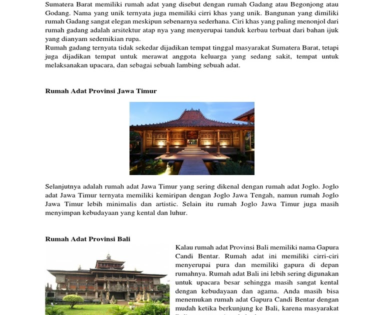 Rumah Adat Gapura Candi Bentar Berasal Dari Daerah Rumah Adat Gapura Candi Bentar Berasal Dari