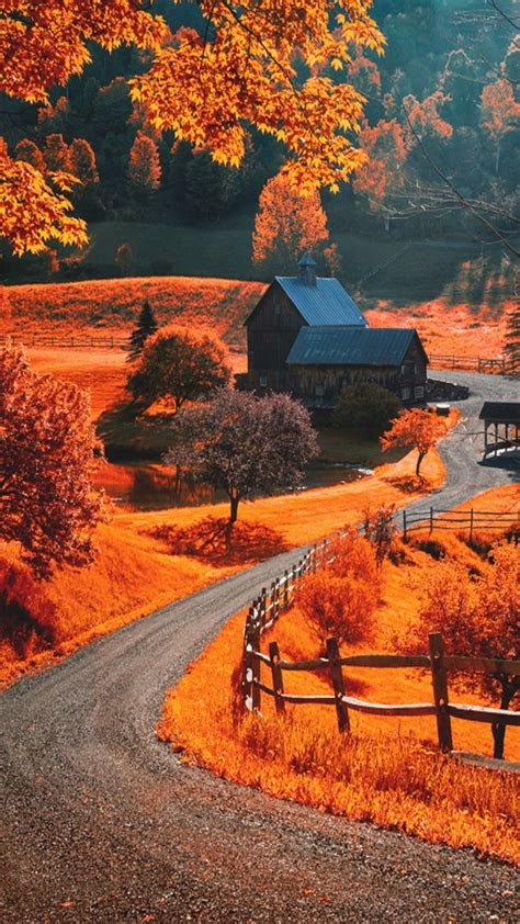autumn landscape iphone wallpapers lock screen