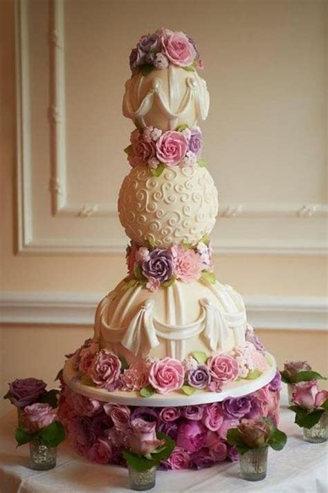 17 Best images about Wedding Cakes with Puff Ball Layer on