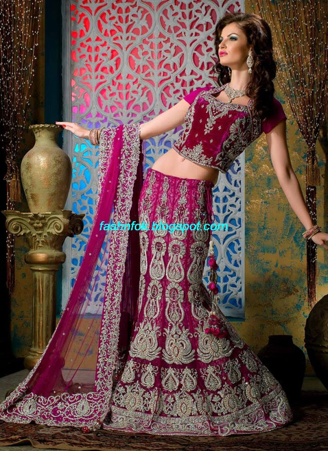 Beautiful-Cute-Girls-Wear-Bridal-Lehenga-Choli-New-Fashion-Dress-Design-2013-12