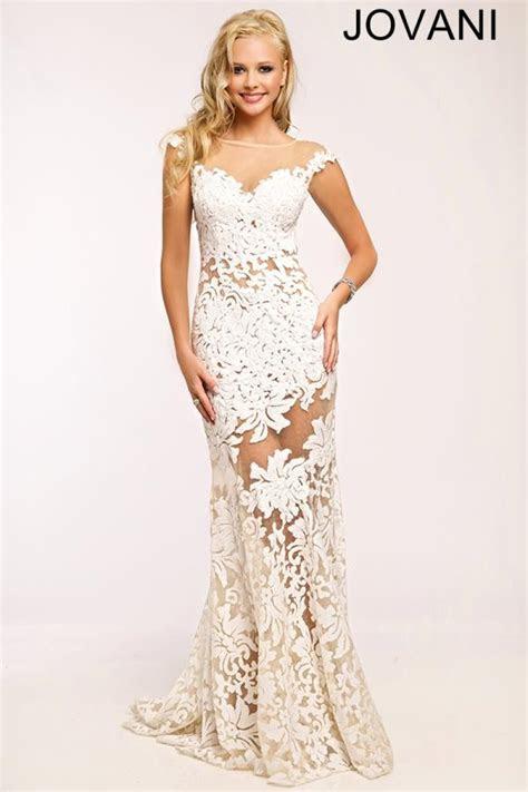 jovani sexy white mermaid prom dress