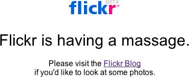 Flickr BETA is having a massage.