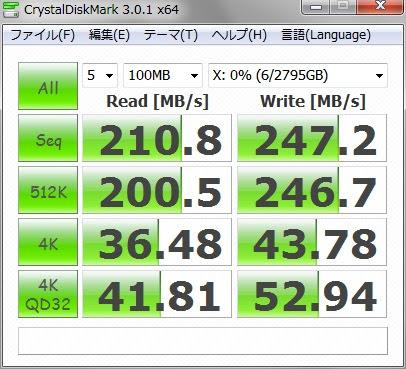 ソフトなし 接続してすぐに計測 USB3.0で接続 100MB