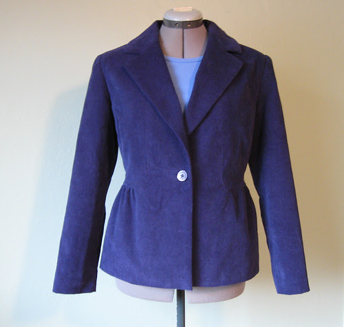 Blue cord jacket front