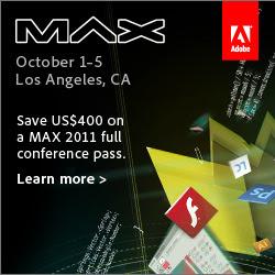 Save US$400 on Adobe MAX 2011