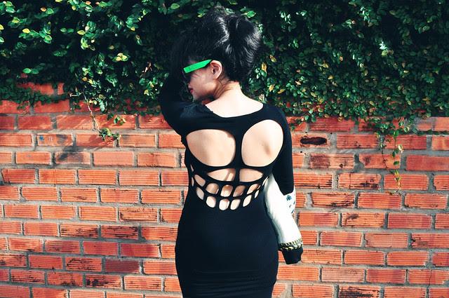 skull studded dress