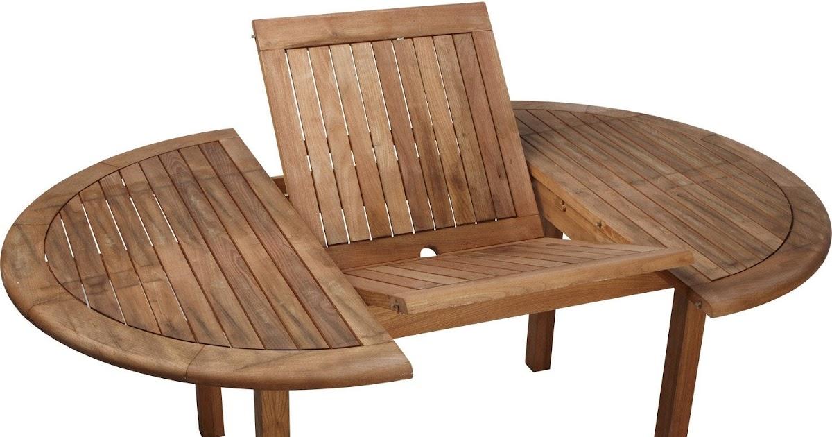Table de salon de jardin ronde avec rallonge acheter en - Table de jardin ronde avec rallonge ...