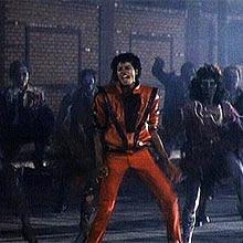 "Cena do clip ""Thriller"", de Michael Jackson: seus vídeos eram quase cinematográficos"