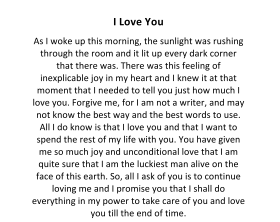 Romantic Love Letters For Her Love Text Messages Weds Kenya