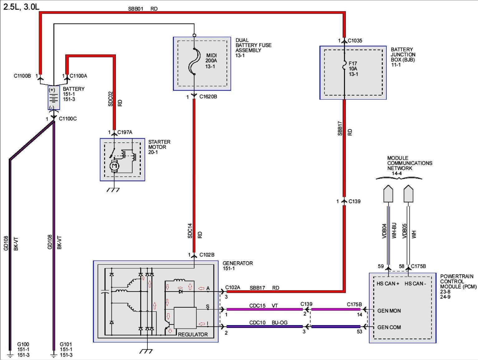 2007 Mazda 3 Alternator Wiring Diagram