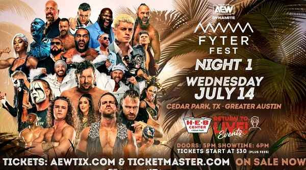 Watch AEW Fyter Fest 2021 PPV Live Night 1 Dynamite 7/14/21 14th July 2021 Online Full Show Free