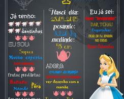 Chalkboard Alice O Pais Das Maravilhas Elo7