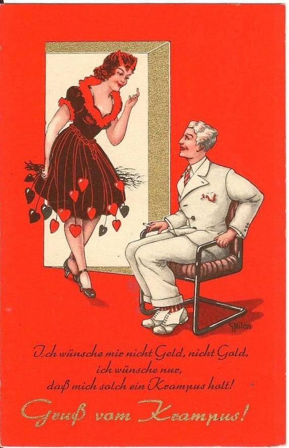 Collectable Vintage Krampus Postcard